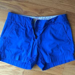 Jcrew size 4 royal blue broken in chino shorts